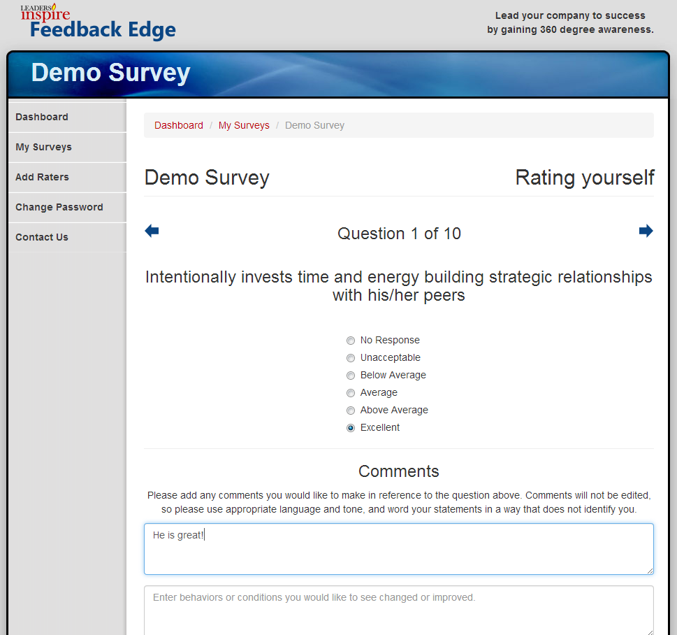 Feedback Edge Survey